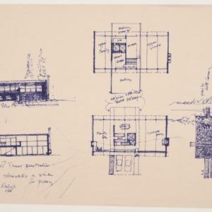 Kamphoefner Residence -- Floor Plan and Elevations