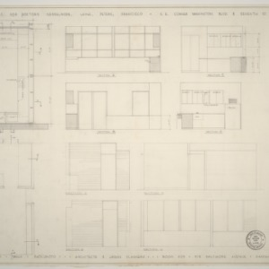Doctor's Clinic for Nesselrode, Laing, Peters, and Francisco -- Floor Plan and Cross Sections