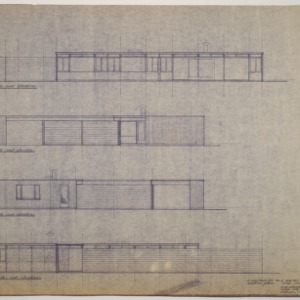 Walter J. Kelly Residence -- Preliminary Study: Elevations