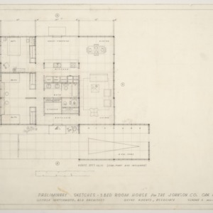 Johnson Residence -- Preliminary Sketches: Floor Plan