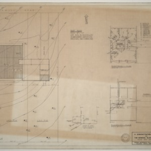 General Electric Demonstration House -- Plumbing, electrical and plot plans