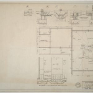General Electric Demonstration House -- Foundation and heating plans