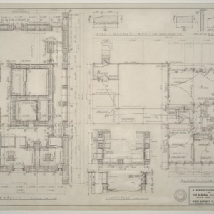 General Electric Demonstration House -- First Floor Plan and Details