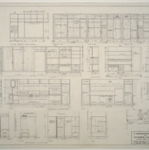 General Electric Demonstration House -- Interior elevations by room