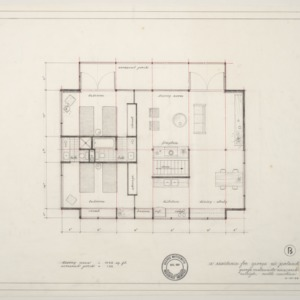 George W. Poland Residence -- Living Area Floor Plan