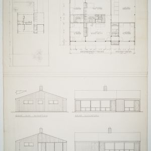 Floor plan and elevations, 2 bed room house