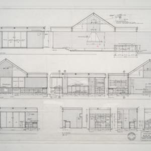 K.F. Adams Residence -- Cross Sections