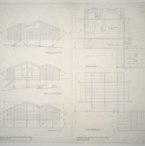 Woman's Day Douglas Fir Plywood Associates Vacation Home -- Elevations, floor plan and framing plan