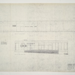 I.B.M. Building -- Elevation and Sign Plan