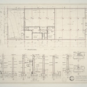 IBM Corp. Office Building -- Basement, Plot Plan and Details