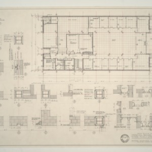 IBM Corp. Office Building -- Main Floor Plan and Details