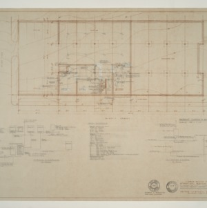 IBM Corp. Office Building -- Electrical Plan and Details: Basement Floor