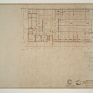 IBM Corp. Office Building -- Electrical Wiring Plan: Main Floor