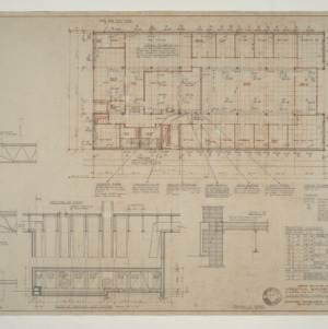 IBM Corp. Office Building -- Mechanical Plan and Details: Main Floor
