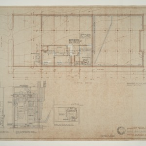 IBM Corp. Office Building -- Mechanical Plan and Details: Basement Floor
