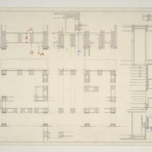 Watkins Residence -- Cross sections of Walls/Framing