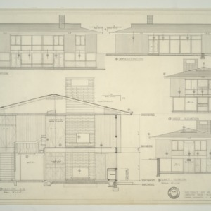 Watkins Residence -- Sections and Elevations