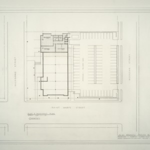 I.B.M. Branch Office Building -- Plot and Basement Plan