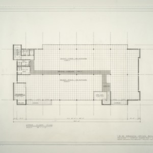 I.B.M. Branch Office Building -- Upper Floor Plan