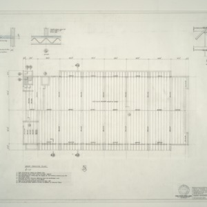 I.B.M. Branch Office Building -- Roof Framing Plan, Section and Details