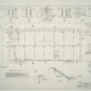 I.B.M. Branch Office Building -- Second Floor Framing Plan, Section and Details