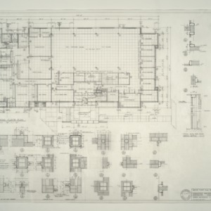I.B.M. Branch Office Building -- Ground Floor Plan, Details