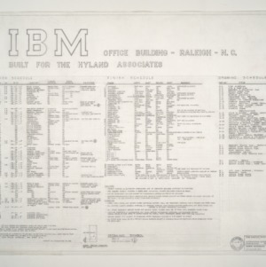 I.B.M. Branch Office Building -- Door Schedule, Finish Schedule, Notes