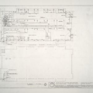 I.B.M. Branch Office Building -- Second Floor Plan and Roof Plan