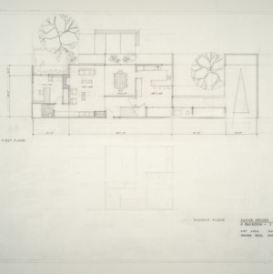Department of Defense Military Housing -- Preliminary Study: Senior Officer Residence Second Floor Plan
