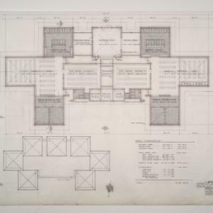 Park Shore Housing -- Bath House #1 Floor and Roof Plan