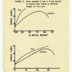 """Effects of Bruising on Tobacco Curability"" data and photos, 1957"