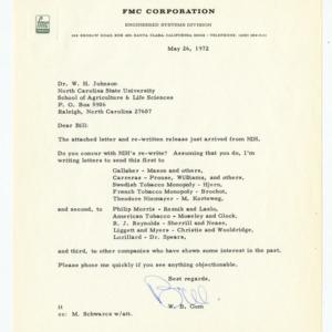 FMC Corporation correspondence, 1970-1972