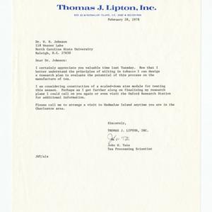 John Tate - Lipton Tea, 1978