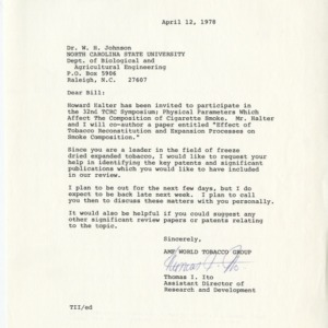 AMF (American Machine and Foundery), Inc. correspondence, 1971-1978