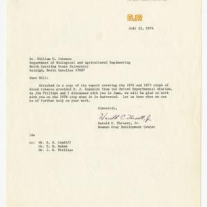 RJ Reynolds Report, 1972-1976