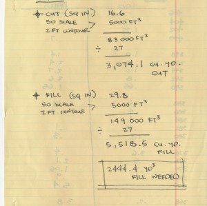 Cut/Fill Calculations for Pullen Park