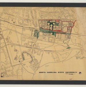 NCSU - University Plaza -- Campus Overview Map