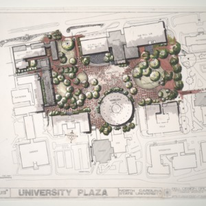 North Carolina State University: University Plaza (1 of 2) :: Drawings