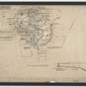 Benson Residence -- Landscape Plan