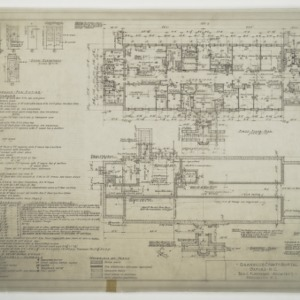 Basement Plan, First Floor Plan and Schedules
