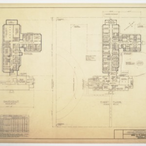 Additions - Basement and First Floor Plan