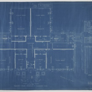 First floor plan and building schedule