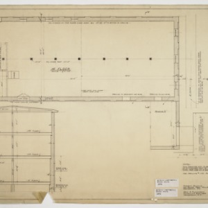 First floor plan and sectional elevation