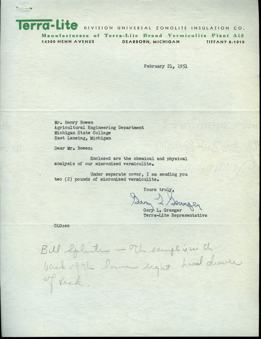 Dusting and Spraying Correspondence (Folder 1 of 3), 1951 - 1962
