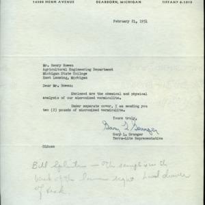 Dusting and Spraying Correspondence (Folder 1 of 3), 1951 - 1962
