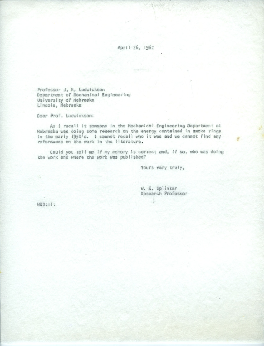Dusting and Spraying Correspondence (Folder 2 of 3), 1962-1965
