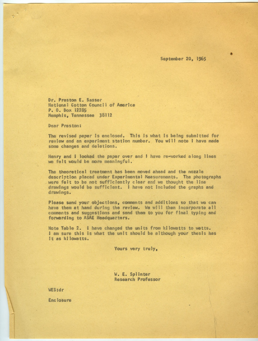 Dusting and Spraying Correspondence (Folder 3 of 3), 1965-1967