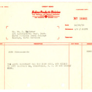 Equipment on Loan Correspondence, 1955-1967