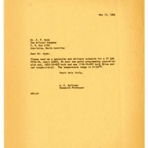 Instrumentation Correspondence (1 of 2), 1954-1968
