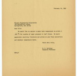 Instrumentation Correspondence (2 of 2), 1954-1968